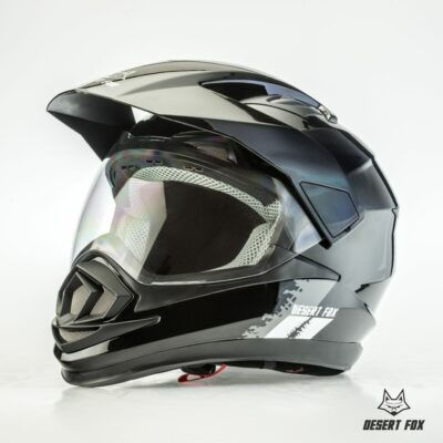 desert fox enduro 3 in 1 black plain helmet - Image not Found