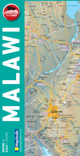 map studio paper adventure road map malawi - Image not Found