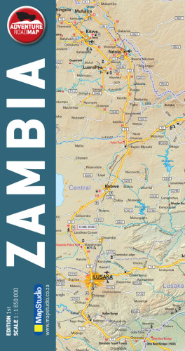 map studio paper adventure road map zambia - Image not Found
