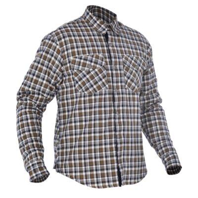 oxford checkered khaki and white shirt - Image not Found