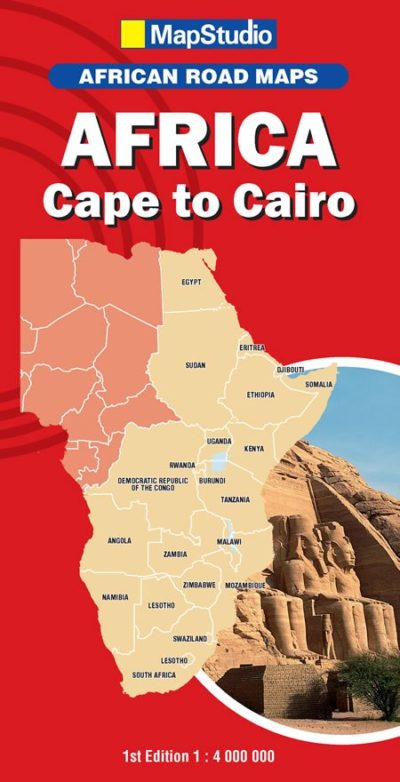 Map Studio Cape To Cairo Map 2nd Edition